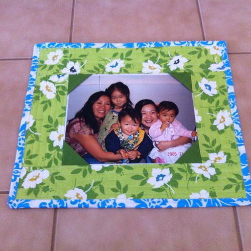 Quilted photo frame | by SunnyInCAL