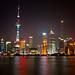 Shanghai Financial Centre Long Exposure at Night