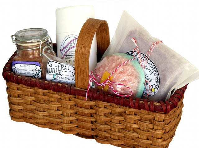 Handmade Basket Companies : Homemade spa gift basket this unique handmade