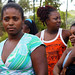Brazilian women near the Community Center of Pirajá