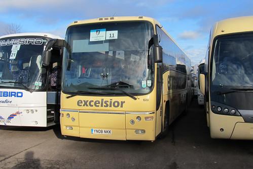Excelsior 620 YN08NKK Volvo B12M / Plaxton Paragon