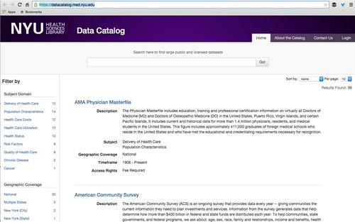 NYU Data Catalog