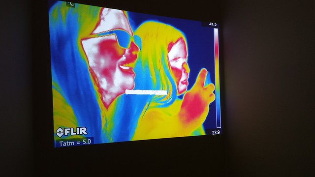 Thermal camera at Science Day at the NJ State Museum