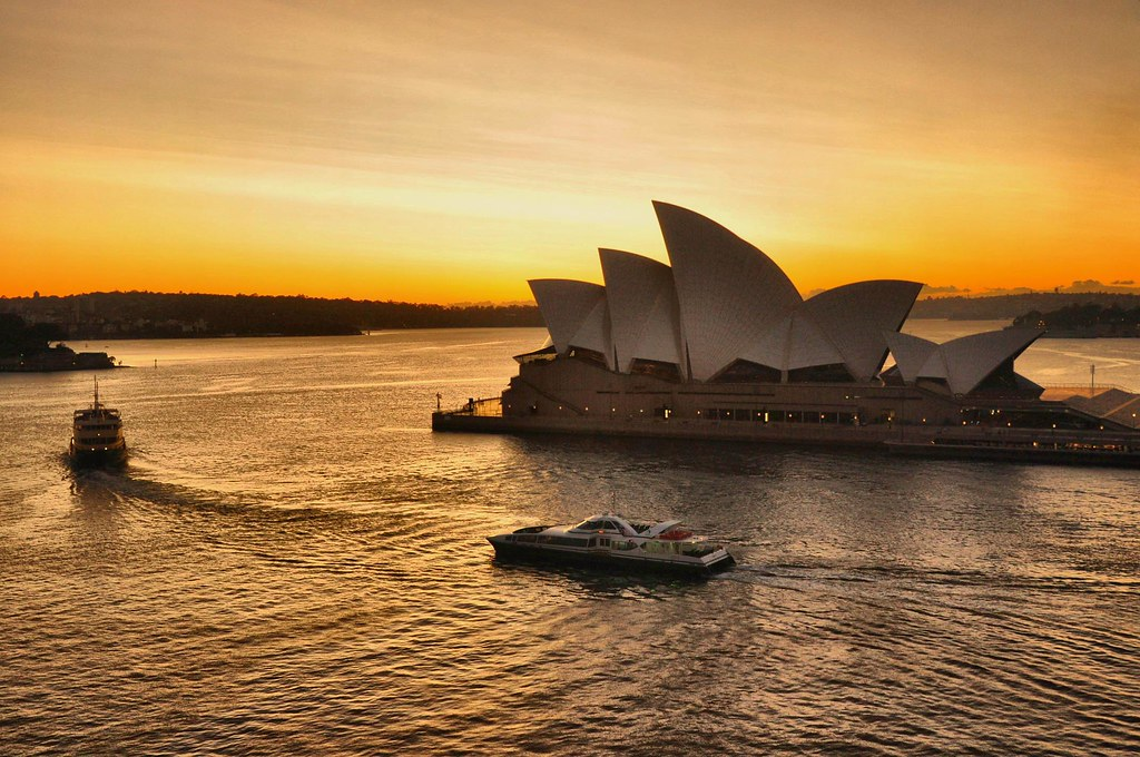 Sydney Sunrise Breakfast With A View Of Sydney Opera House Flickr