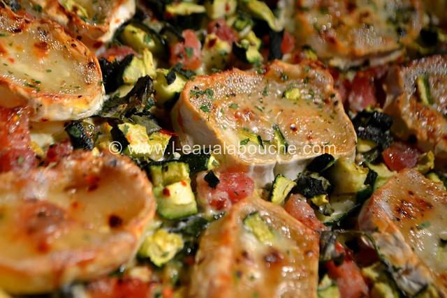 Tarte aux Courgettes Lardons & Chèvre  © Ana Luthi  Tous droits réservés 09