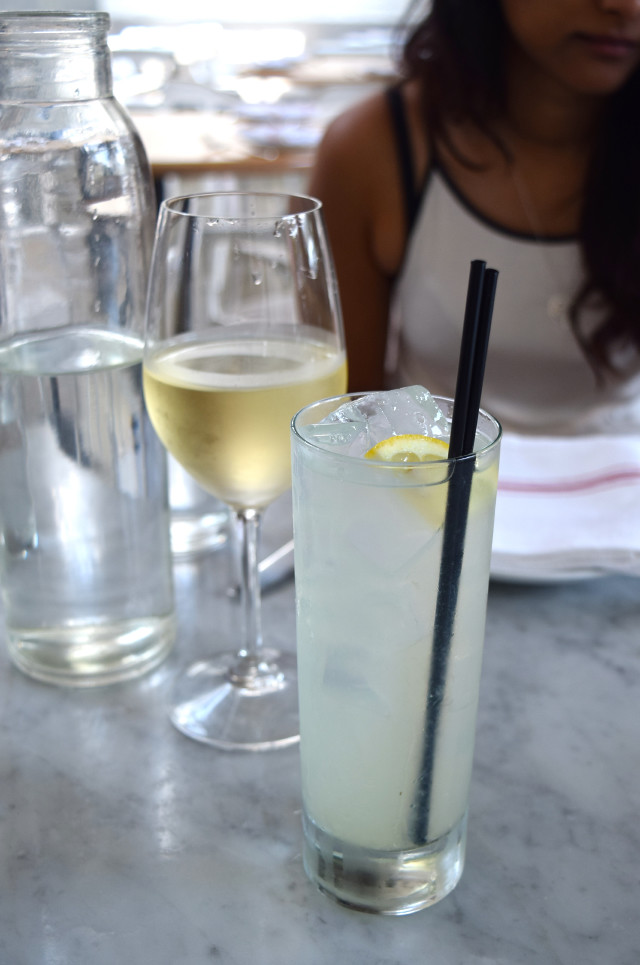Homemade Lemonade & White Wine at Salt Air, Venice