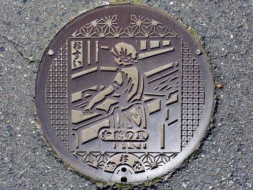 Aoya Tottori, manhole cover 2 (鳥取県青谷町のマンホール2)