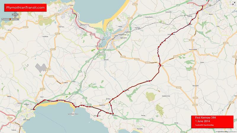 39A Penzance - Rosudgeon - Leedstown - Camborne