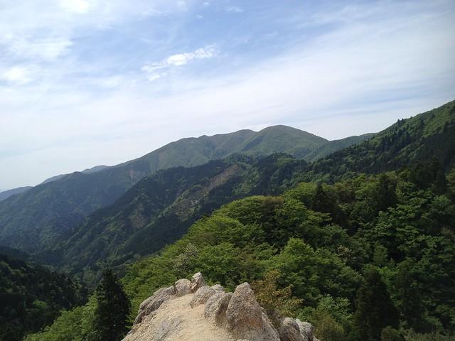 鎌ヶ岳 武平峠ルート 岩場から雨乞岳