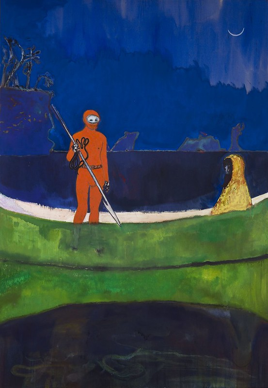 Peter Doig, Spearfishing, 2013, Oil on linen