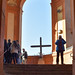 Top of Portico w/cross, San Luca, Bologna