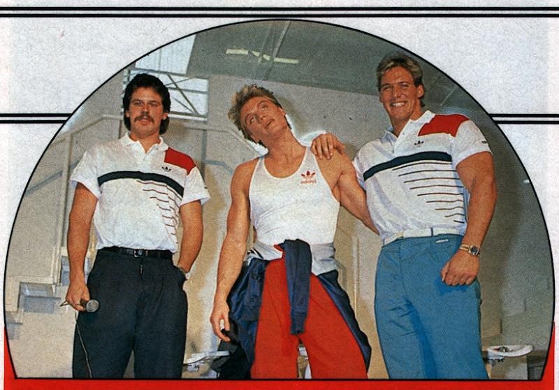 Jürgen Hingsen, Dolph Lundgren and Ralph Moeller