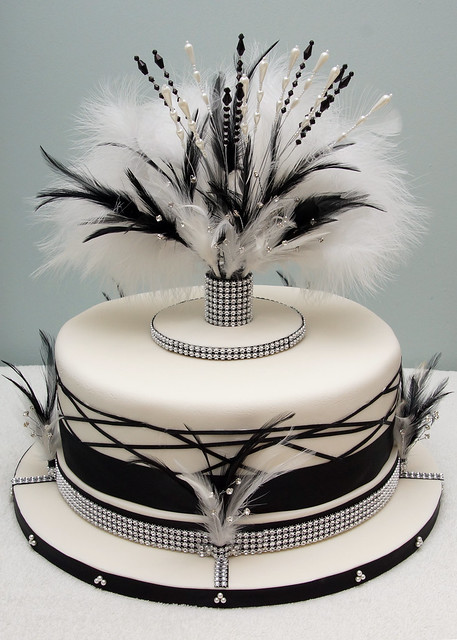 Art Deco Birthday Cake : Art Deco wedding cake Flickr - Photo Sharing!