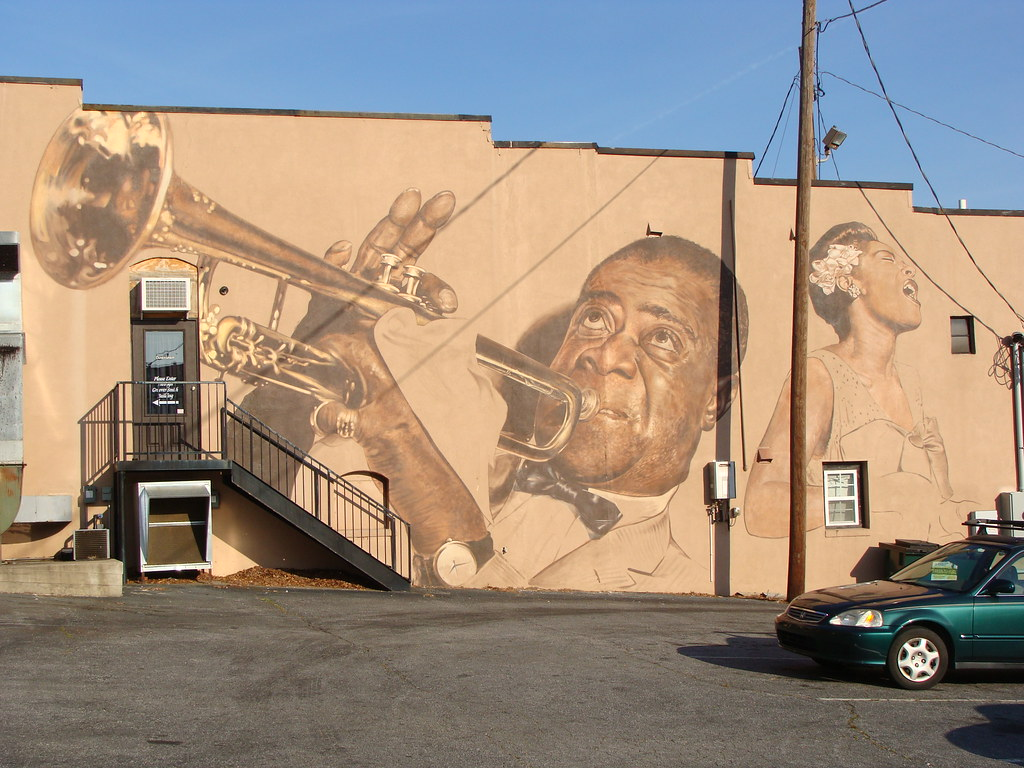 Wall mural louis armstrong and billie holiday sorry for Billie holiday mural
