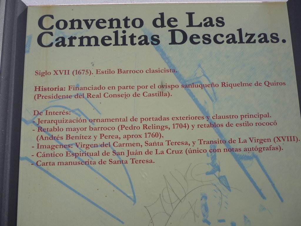 Cádiz - Sanlúcar de Barrameda - Convento de las Carmelitas ...