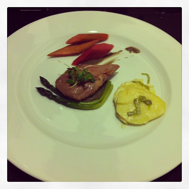 Tea Smoked Duck Breast Rhubarb Asparagus Potatoes Truffle … | Flickr