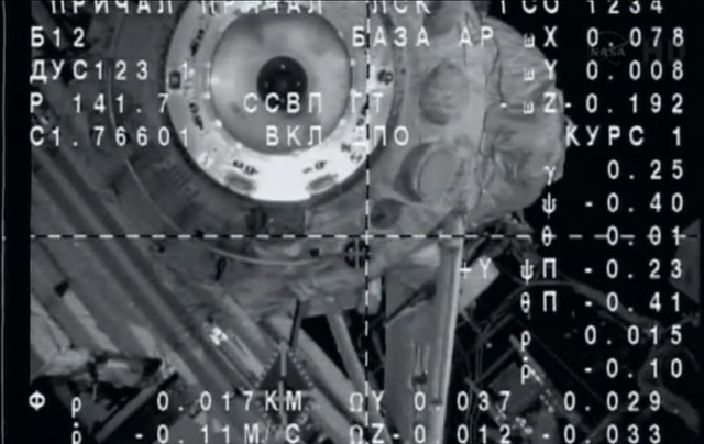 Expedition 36 TMA-09M docking with the ISS