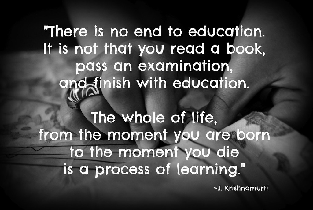 Process of Learning - JK Quote