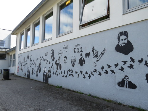 Stencil art at Harestad skole