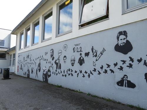 Stencil art at Harestad skole