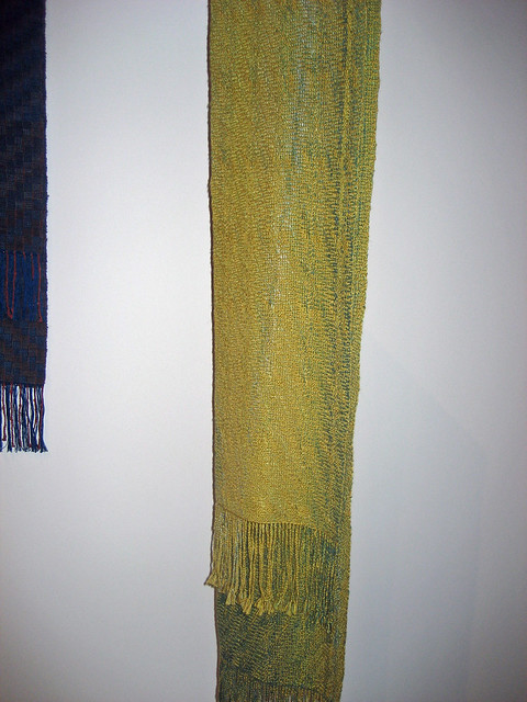 Still Water handwoven scarf by Marsha Stewart-Walters in 2015 Art Gallery of Burlington All Guilds Show