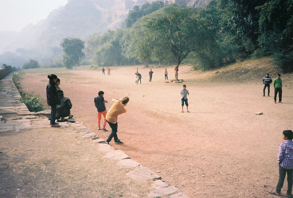 Cricket at Gwalior Fort