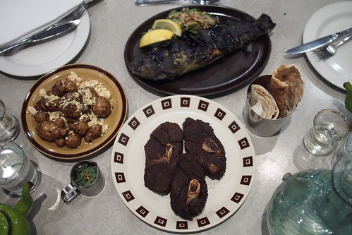 Rumi Restaurant, 116 Lygon Street, Brunswick East - Jerusalem artichokes with feta, fish cooked in vine leaf, slow-cooked lamb