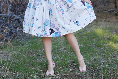 Vintage Inspired by Jackie Atomic Jax Keyhole Disney Bedsheet Dress
