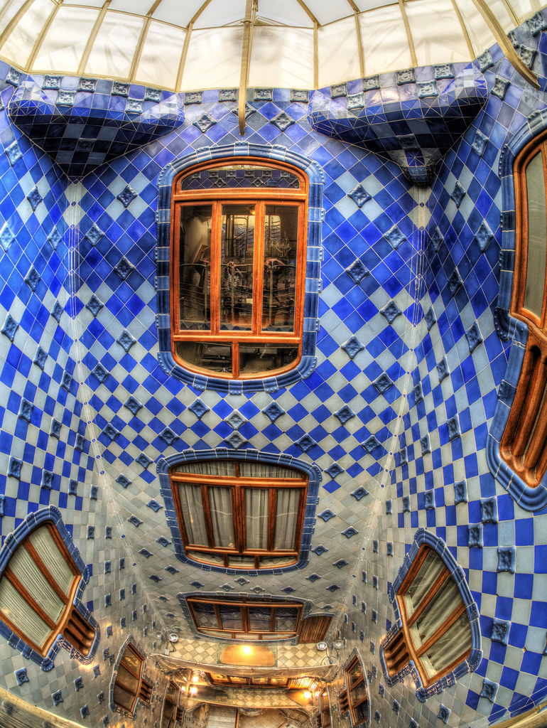 Inside the Casa Batllo , Barcelona - the Light Shaft | Flickr