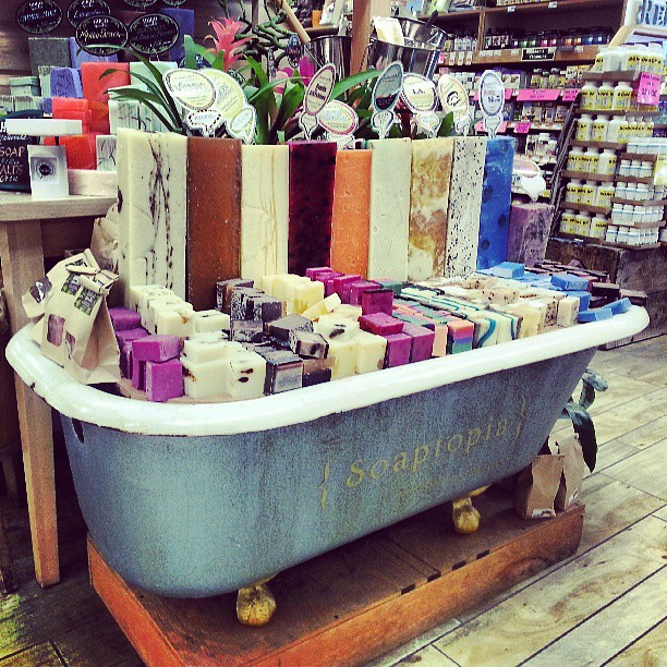 Nugget Gift Ideas Apparel: Soap Display #santabarbara