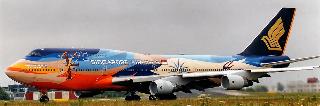 9v Spk Boeing 747 412 Singapore Airlines Tropical 22