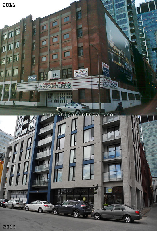 Before / After : Former indoor parking on St Maurice street