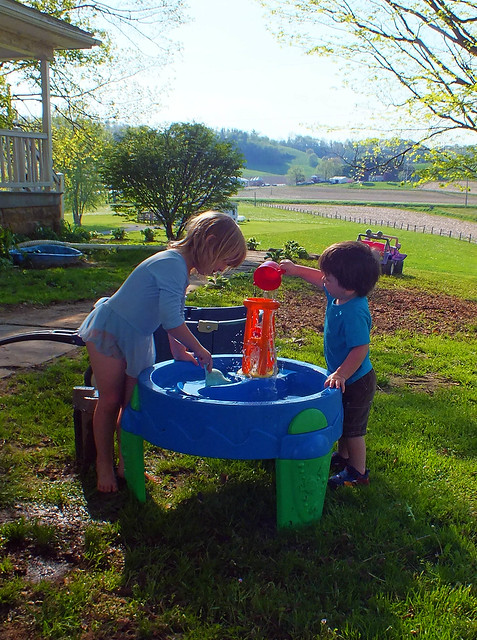 Playing at the water table