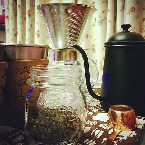 20150516 今晚喝老戴自己烘的花神  #戴門嘎逼  #老戴咖啡豆