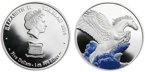 2014 Tokelau Pegasus coin
