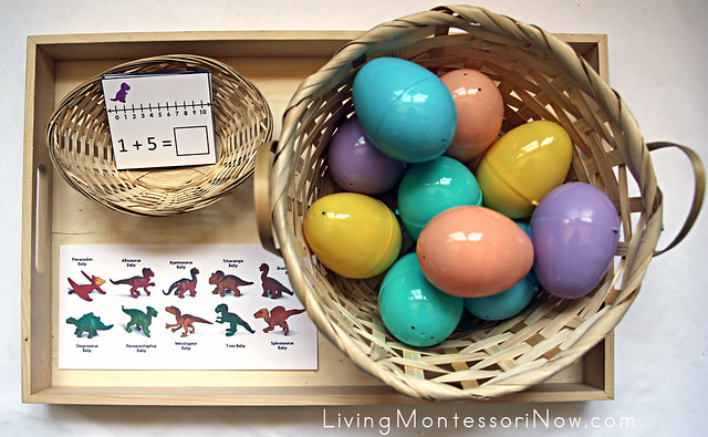 Dinosaur Number Line Addition and Subtraction - Hatching Dinosaurs
