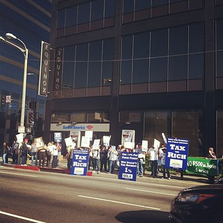 Bank of America protest on Wilshire #ows #losangeles | by dcapistrano