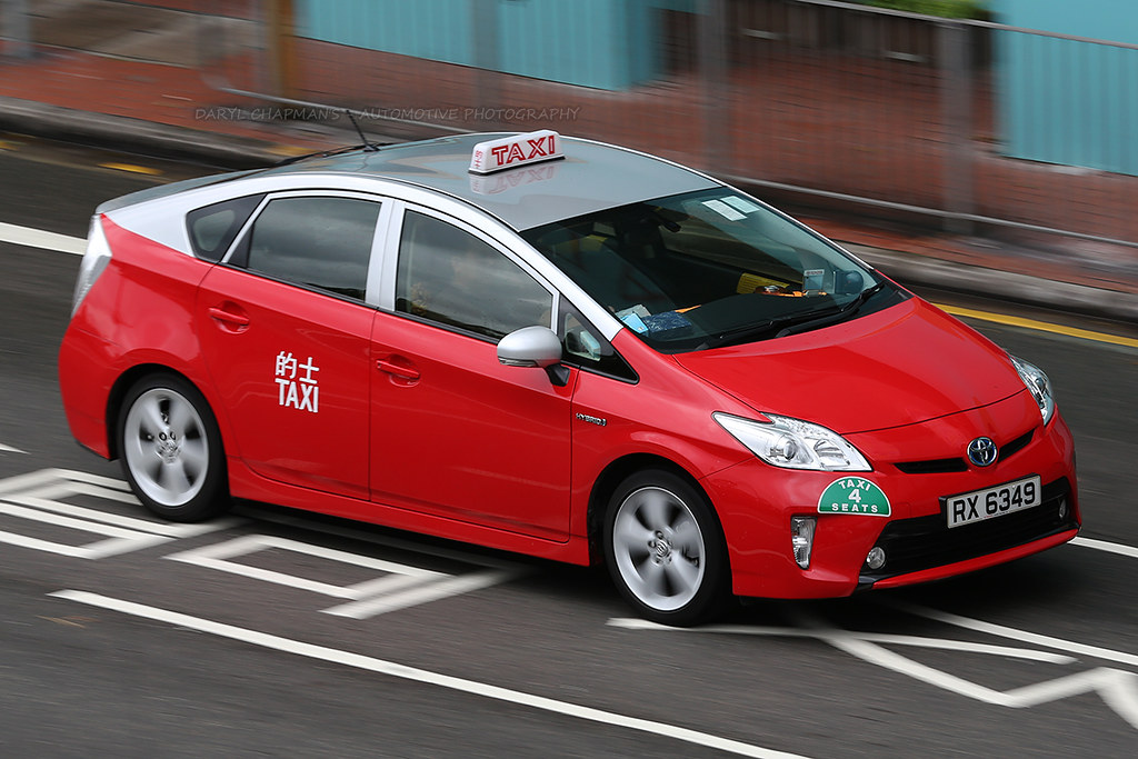 Toyota Prius Taxi Causeway Bay Hong Kong Seem To See