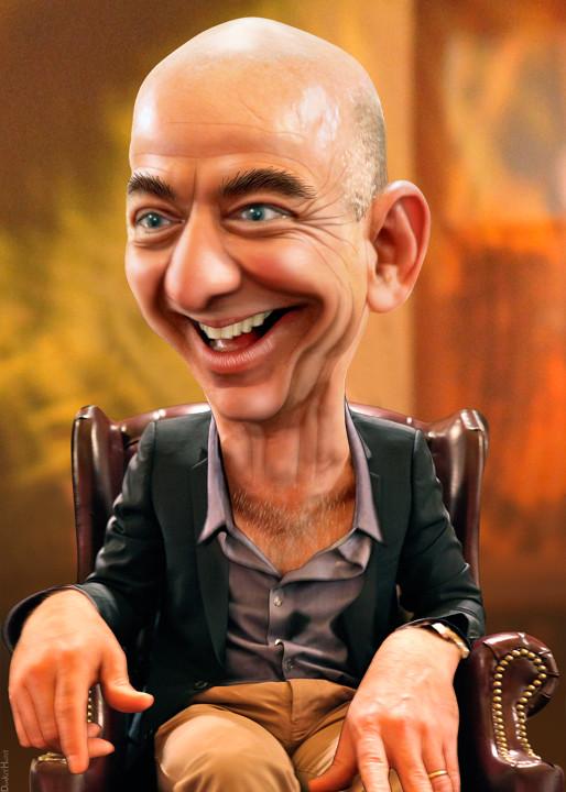 Jeff Bezos Caricature Jeffrey Preston Bezos Aka Jeff