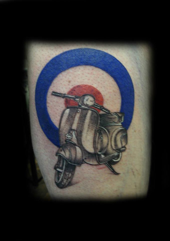 Vespa Scooter Target Tattoo By Ray Tutty Tattoo Studio Flickr