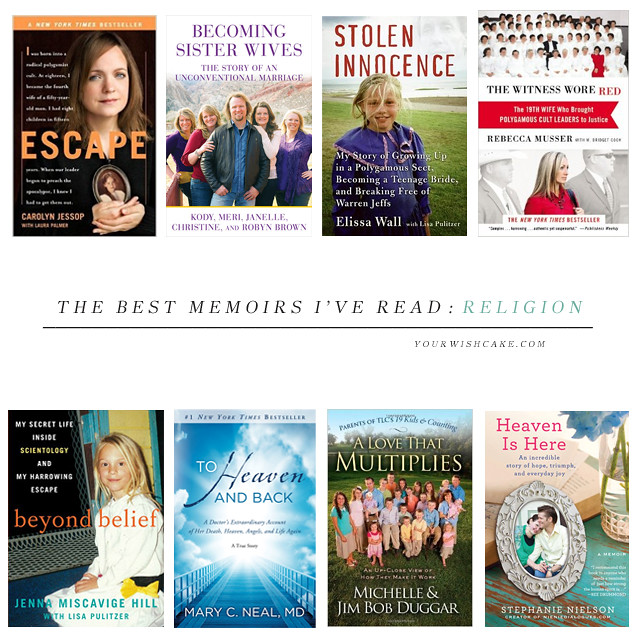 The best (religion/religious) memoirs I've read! | yourwishcake.com