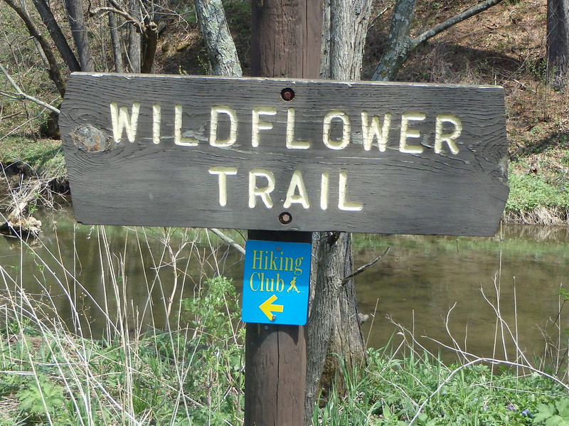 Wildflower Trail sign