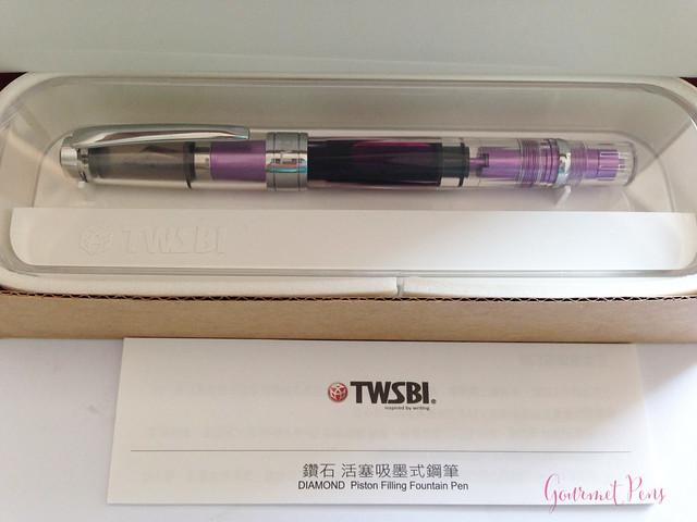 Review TWSBI Diamond 580 AL Purple Fountain Pen @TWSBI @CouronneDuComte (1)