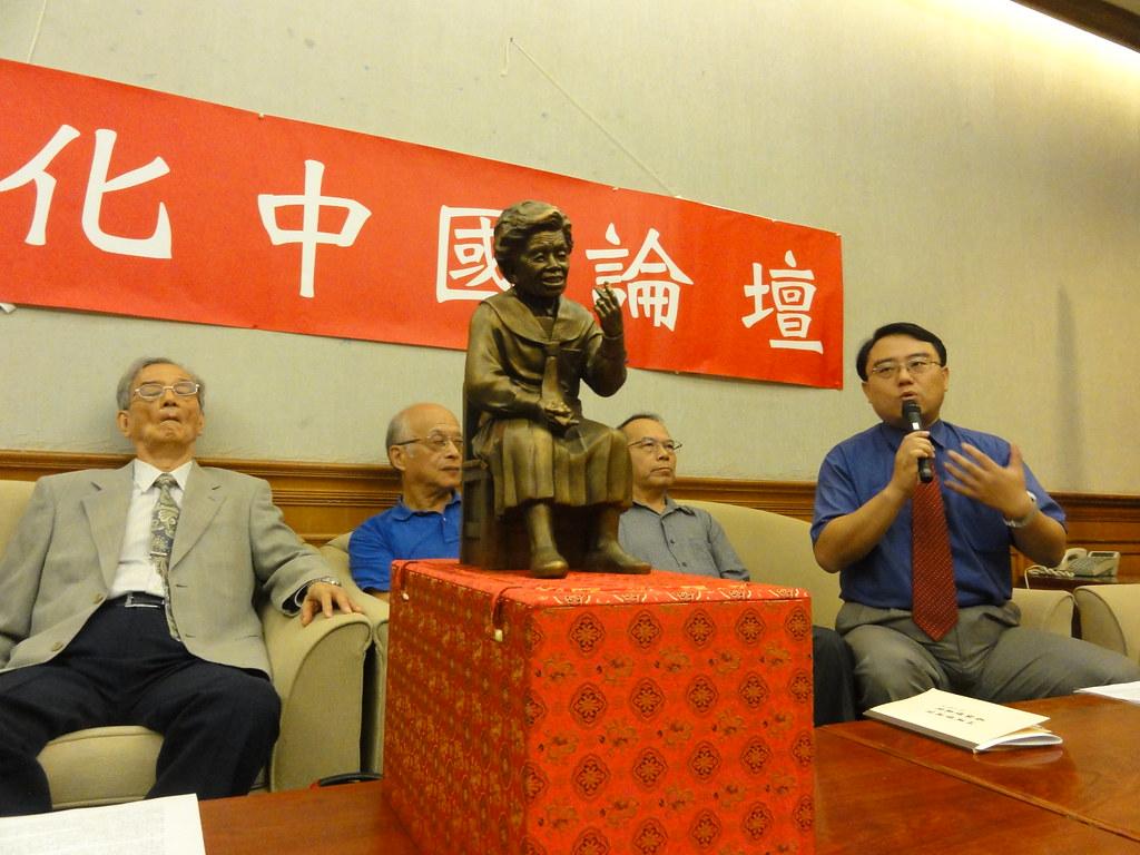 文化中國論壇舉辦記者會,呼籲社會各界記取慰安婦的故事,反思日本殖民歷史。(攝影:張智琦)