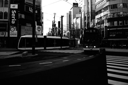 Tramcars at Sapporo on NOV 20, 2016 (1)