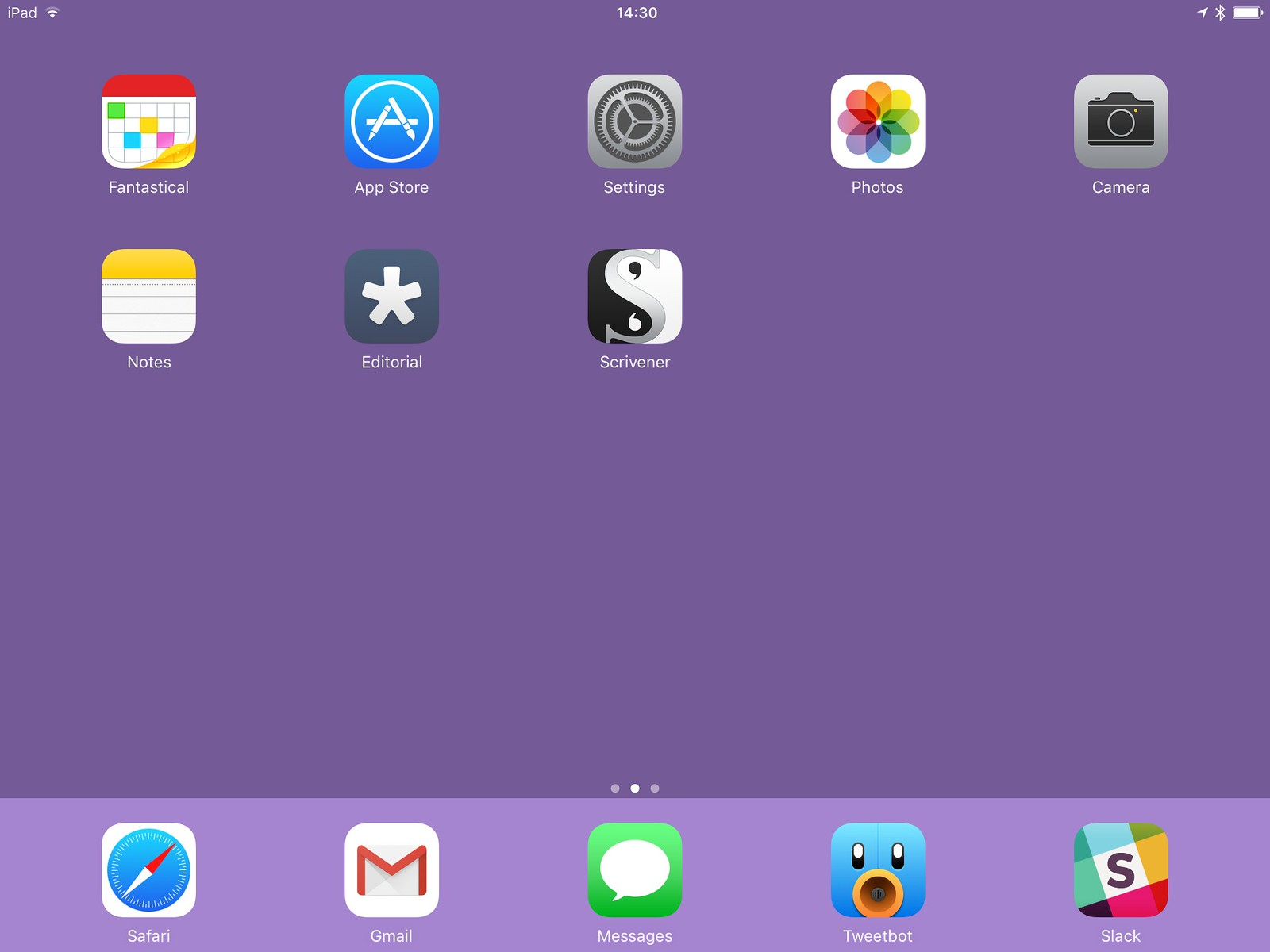 My iPad's primary Home screen