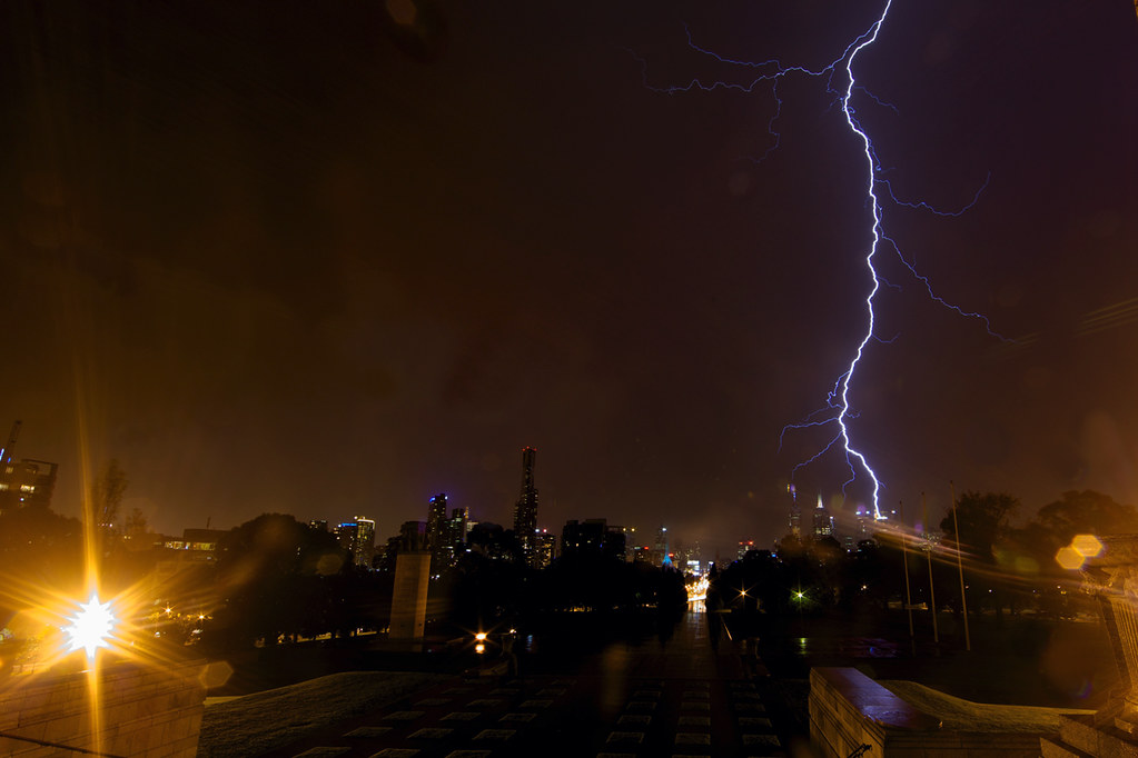 A daring escape from the rain and lightning
