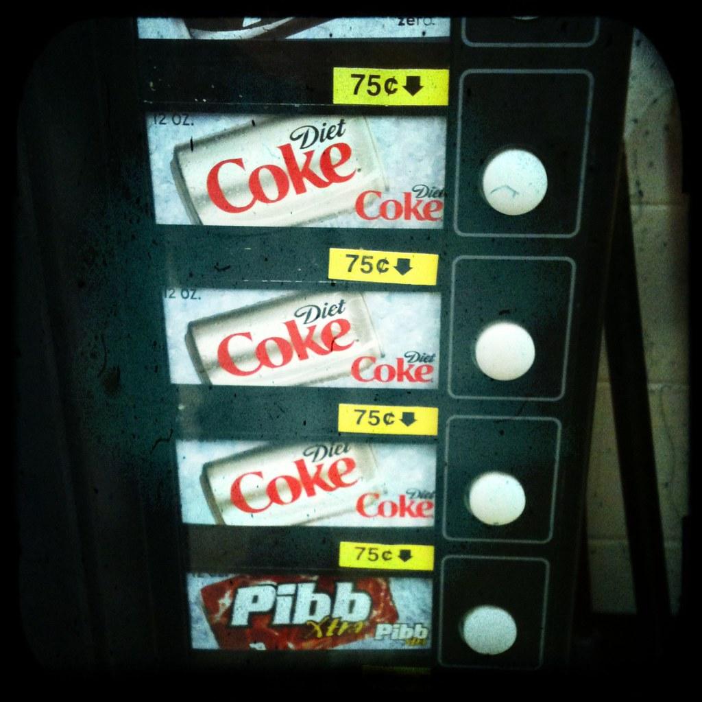 diet coke vending machine
