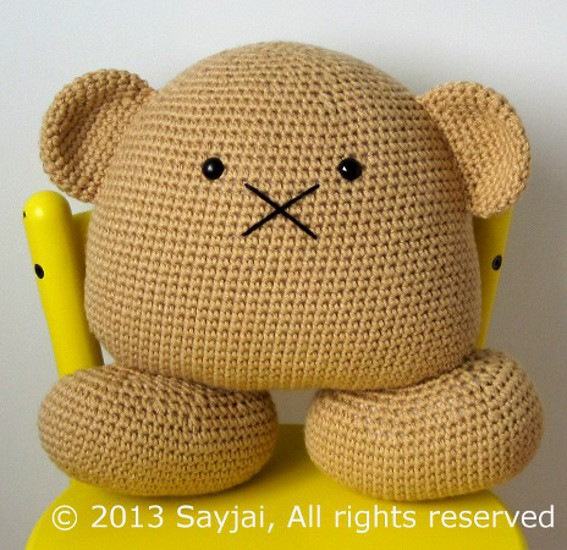 Pillow bear crocheted large stuffed animals they make for Amazon com pillow pets