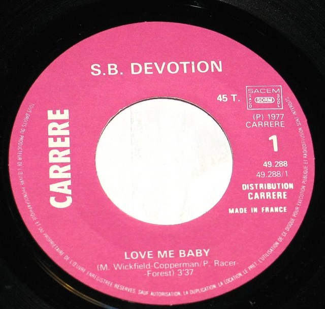 Sheila B. Devotion Love Me Baby Carrere Records